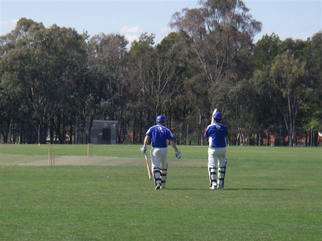 adam and bean going out to bat